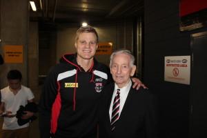 John Curtin with Captain Nick Reiwoldt
