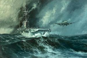 HMAS-Sydney-painting by Ray Honisett