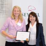 CEO Award Recipient Linda Brownfield with CEO Janna Voloshin