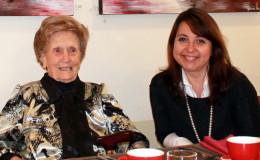 Janna Voloshin with VBE resident Josephine Chaplin
