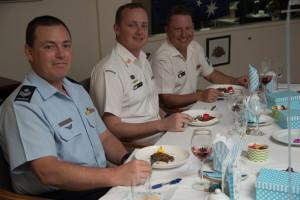 Three ADF judges prepare to taste SWHH's entry